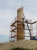 Stavba rozhledny Akátová vež